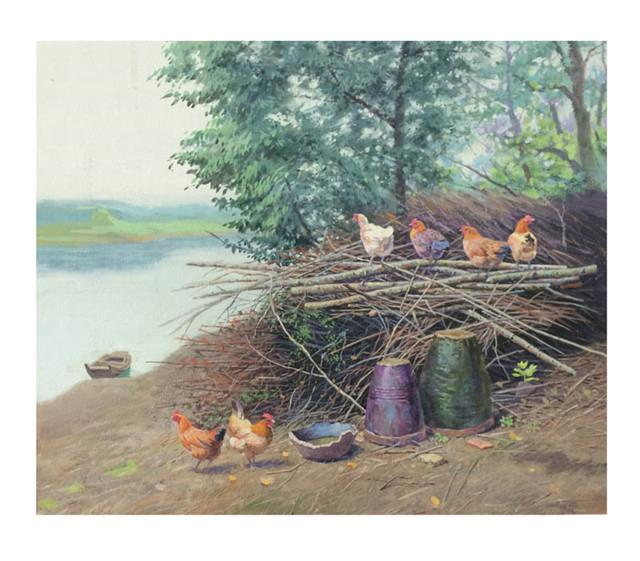 现居山西太原;多次参加全国水彩展,并在中国首届水彩画艺术展中获奖