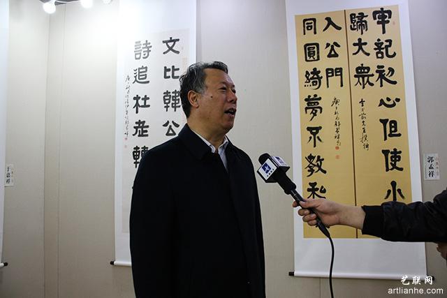 8北京书协秘书长郭孟祥接受采访.JPG